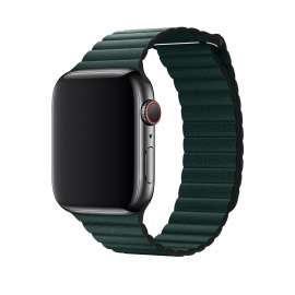LEATHER LOOP STRAP FOR APPLE WATCH 38/40/42/44mm - Moss Green