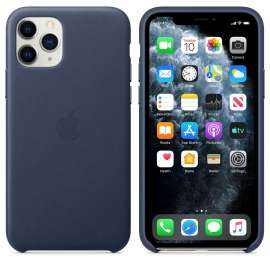 iPhone 11 Pro Max Leather Case - Midnight Blue (MX0G2FE/A)