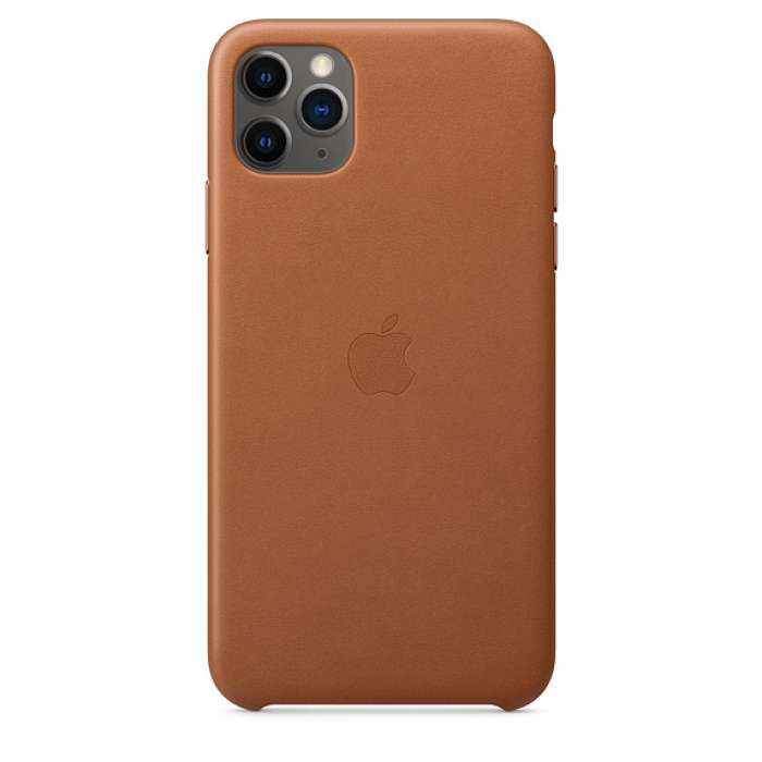 iPhone 11 Pro Max Leather Case - Saddle Brown (MX0D2EF/A)