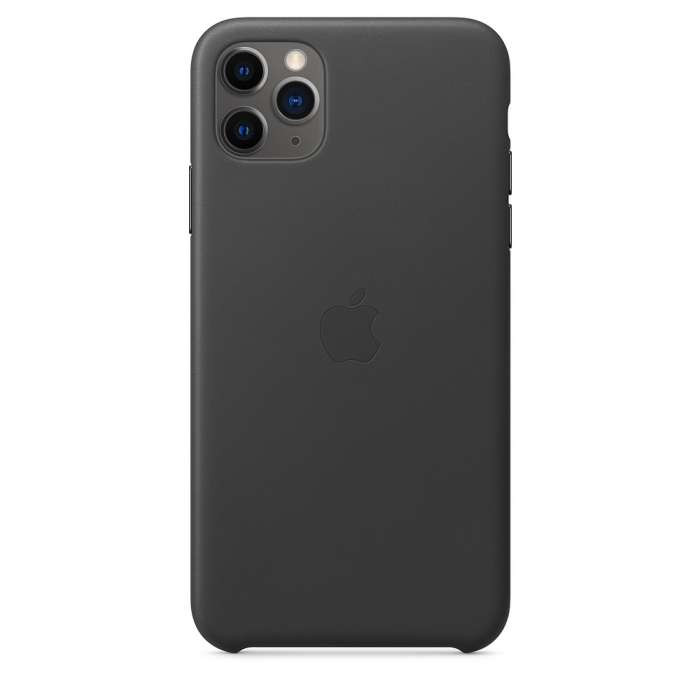 iPhone 11 Pro Max Leather Case - Black (MX0E2EF/A)