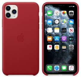 iPhone 11 Pro Max Leather Case - (PRODUCT)- RED (MX0F2EF/A)