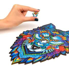 Majestic Wolf Wooden Puzzle A3
