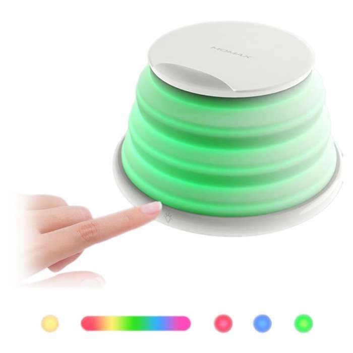 Momax Q.LED Rainbow Color Changing Lamp with Wireless Charger - White (QL2W)