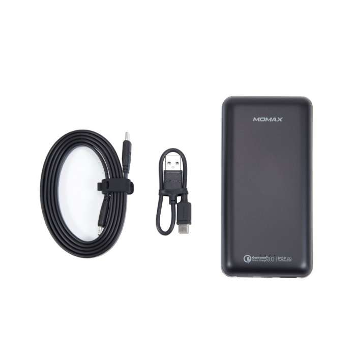 Momax Ready to Go Power Minimal PD3 External Battery Pack 20000mAh - Black