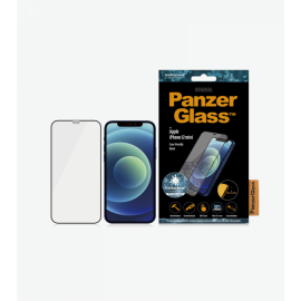 Panzer Glass For IPhone 12mini 5.4 Anti Bacterial Case Friendly (Black)