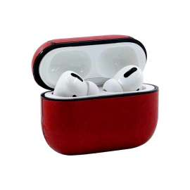 AirPods Pro Protective Leather Case - Red