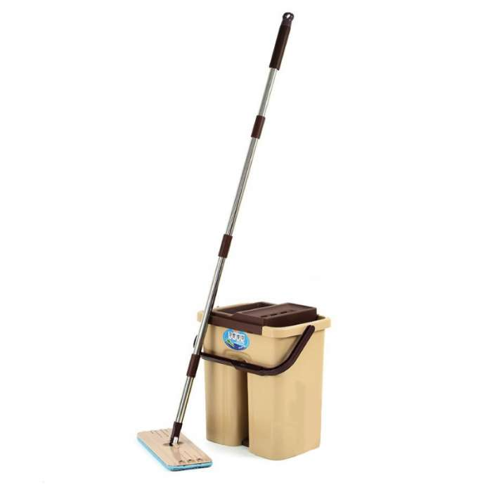 Scratch Mop With Bucket And 2 Mop Pads