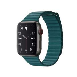 LEATHER LOOP STRAP FOR APPLE WATCH 42/44mm - Peakok Green