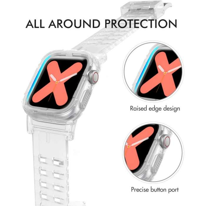 Ahastyle Band Strap Crystal For Apple Watch 44/42mm - Clear