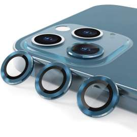 Alloy Glass Camera Lens Protector for iPhone 12 Pro Max (6.7 inch) - Blue