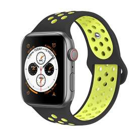 Apple Watch Sport Silicon Bands - Black/Green
