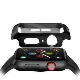 Apple Watch Tempered Glass + Case - Black (38to44mm)