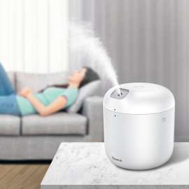 Baseus Elephant 2-in-1 Humidifier Air Purifier + LED Lamp – 600ml – White
