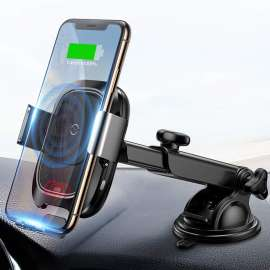 BASEUS Fully Intelligent Inductive Stretching 10W Wireless Charger Suction Cup Car Mount