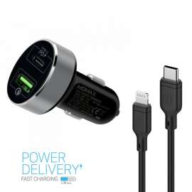Momax 2 in 1 Type -C PD Pack Car charger + PD Fast Ccharging Cable
