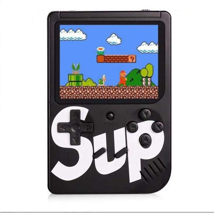 Classic Retro SUP 400 in 1 Game Console with Rechargeable Battery - Black