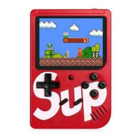 Classic Retro SUP 400 in 1 Game Console with Rechargeable Battery - Red
