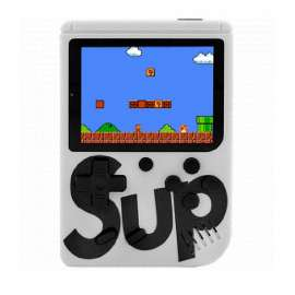 Classic Retro SUP 400 In 1 Game Console With Rechargeable Battery - White