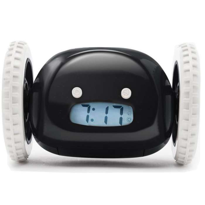 Clocky The Runaway Alarm Clock - Black