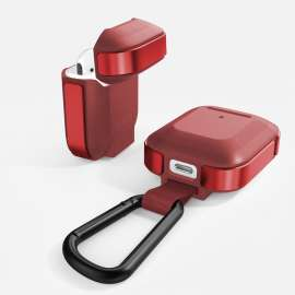 Defense Trek, Apple AirPods 1 & 2 Case - Red