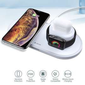 Devia 3 in 1 Wireless Charger 18w  for Smart Phone / Apple Watch & Airpods