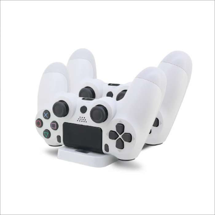 Dobe Charger Dock Charging Station for PS4 / PS4 Slim DualShock Controller - White