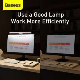 Baseus i-wok Series USB Asymmetric Light Source Screen Hanging Light - Black