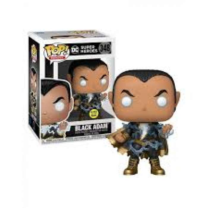 Funko POP Heroes: DC- Black Adam w/ Energy (Exc) (GW) (FU46547)