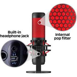 HyperX QuadCast - USB Condenser Gaming Microphone, for PC, PS4 and Mac