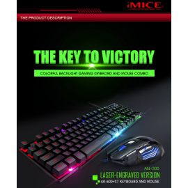 iMice AN-300 USB Wired Gaming Keyboard Mouse Combo