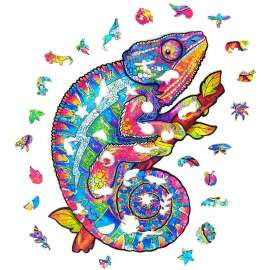 Iridescent Chameleon Wooden Puzzle A3