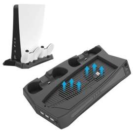 KJH Charging Stand with Cooling Fan For PS5
