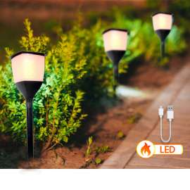 Solar LED Flame Torch