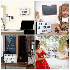 LED Cinematic Light Box - Includes 100 Letters & Numbers to Create Changable Signs