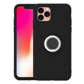 Leisurto iPhone 11 Pro Max Silicon TPU Shell Case with Ring Holder Kickstand