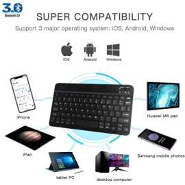 Lzy BK100 Mini Bluetooth Keyboard Wireless Rechargeable Keyboard Support Android IOS Windows For Mobile & Tablet