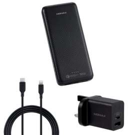 Momax Ipower Minimal PD5 External Battery Pack 20000 mAh Type-C Cable - Black (VPD0039)
