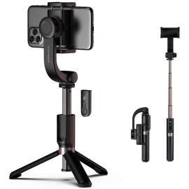 Momax Selfie Stable Smartphone Gimbal with Tripod - Black