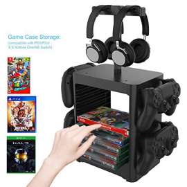 Multifunctional Storage Tower Stand Kit Organizer for PS5 / PS4 / XBOX