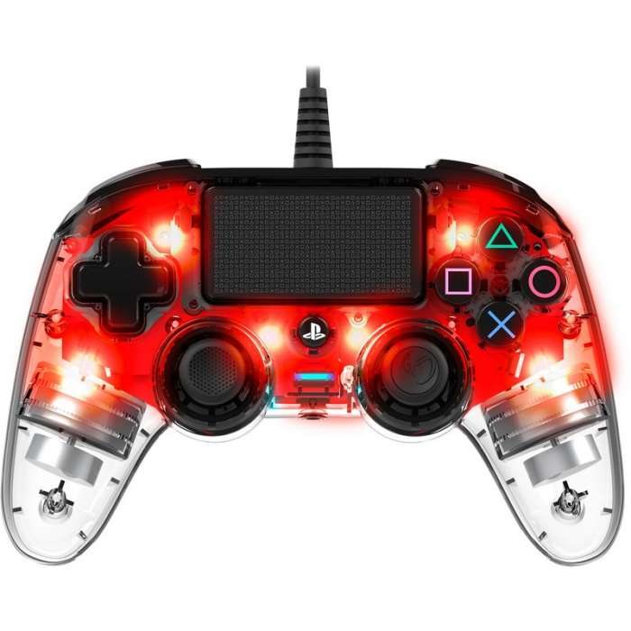 NACON Compact Wired Controller for PlayStation 4 - Crystal Red