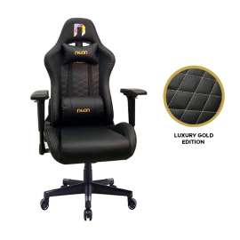 Neon Gaming Chair Luxury Series  - Black/Gold