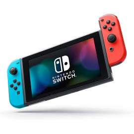 Nintendo Switch Gaming Console with Extended Battery - Neon Blue/Red Joy-Con