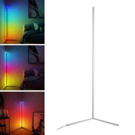Corner Floor Lamp RGB With Remote & Phone App Control Dimming Standing For Decoration (20W) - White