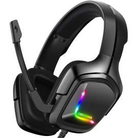 ONIKUMA K20 Advanced 4D Gaming RGB Headset - PS4 / Xbox / Nintendo / PC - Black