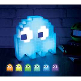 PacMan Ghost Light Table Lamp 16 Color Options Changes Colors to Music USB Powered