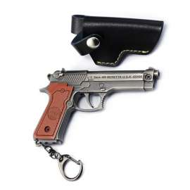 PUBG Gun Metal Keychain with Leather Carry