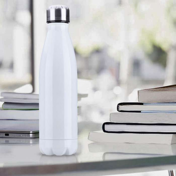 500mL Stainless Steel Double-Wall Water Bottle (12hrs Hot / 24hrs Cold)
