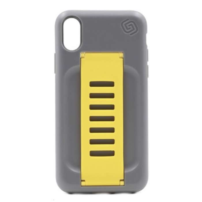 Grip2u Boost Case for iPhone X Graphite / Yellow Band