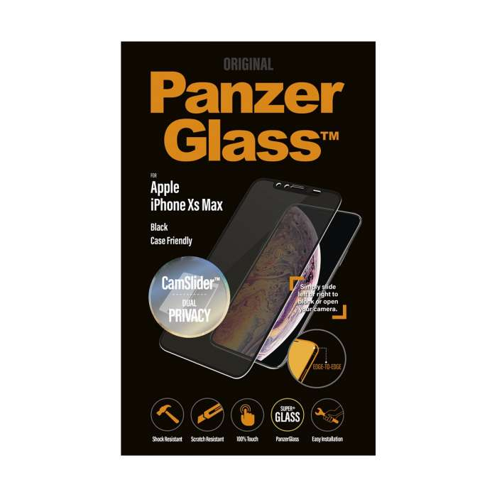 PanzerGlass CamSlider Privacy Screen Protector For IPhone XS Max Black