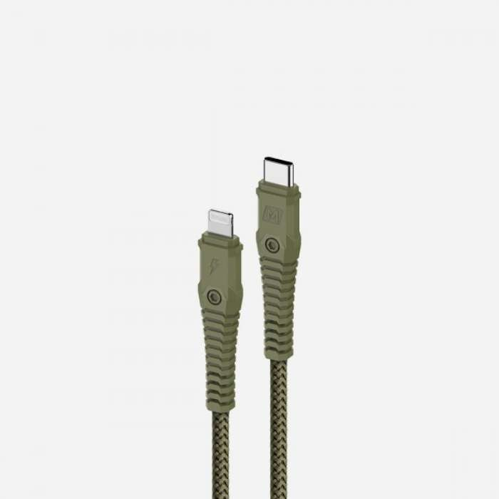 Momax Tough Link Lightning to Type-C Cable 1.2M - Green